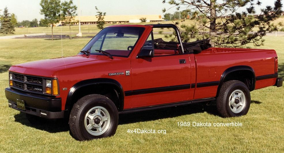 Dodge Dakota on Dodge Dakota Convertible 1990