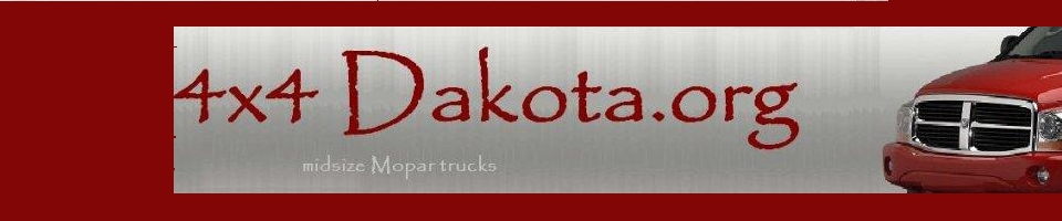 4x4Dakota.org: Midsize Mopar 4 Wheel Drives - Dodge Dakota off-road, Dodge Durango 4-wheeling , Jeep Commander & Chrysler Aspen