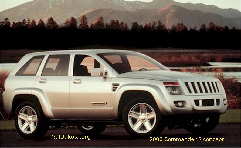 Jeep Commander 2 Concept 2000 Specs 4x4dakota Midsize Mopar
